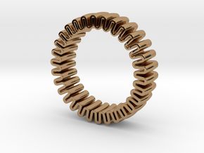 MYTO U // Mitochondria Ring in Polished Brass