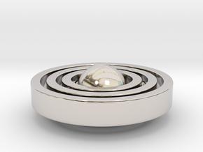 Galaxy Style Pendant in Rhodium Plated Brass