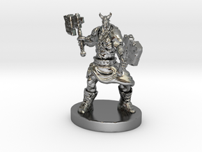 Orc Warrior Figurine in Polished Silver
