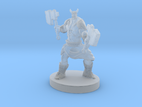 Orc Warrior Figurine in Smooth Fine Detail Plastic