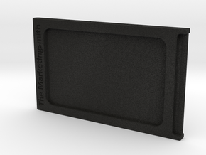 Branded Compact ID and Credit Card Holder in Black Acrylic