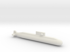Lada-Class Submarine, Full Hull, 1/2400 in White Natural Versatile Plastic