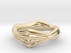 Locking Fingers Ver.1 in 14k Gold Plated Brass