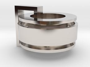 Ring In Reta in Rhodium Plated Brass