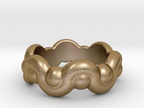 Strange Fantasy Ring 14 - Italian Size 14 in Polished Gold Steel