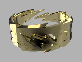 Power : Zeus Ring Size 11 in 18k Gold Plated Brass