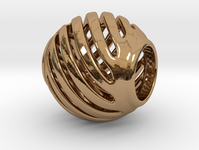 Pandora Charm Geo 1 in Polished Brass