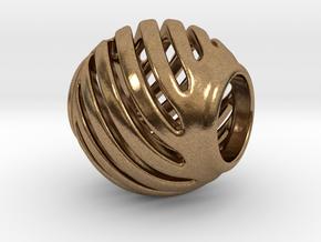 Pandora Charm Geo 1 in Natural Brass