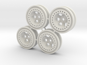 "Bead-lock 1/8"" offset 7mm hex - Losi McRC/Trekker in White Strong & Flexible"