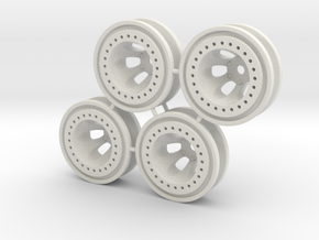 "Bead-lock 3/8"" offset 7mm hex - Losi McRC/Trekker in White Strong & Flexible"
