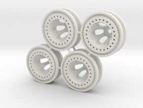 "Bead-lock 1/2"" offset 7mm hex - Losi McRC/Trekker in White Natural Versatile Plastic"