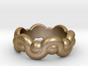 Strange Fantasy Ring 32 - Italian Size 32 in Polished Gold Steel