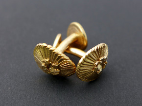 Coccolithus Cufflinks - Science Jewelry in Natural Bronze