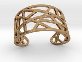 POLLY cuff bracelet  in Polished Brass