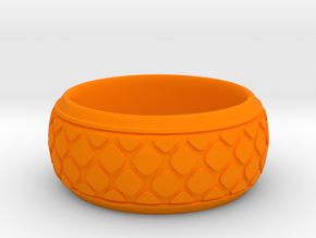 PATTI bangle  in Orange Processed Versatile Plastic