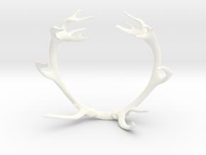 Red Deer Antler Bracelet 90mm in White Processed Versatile Plastic