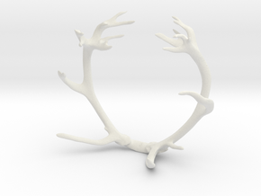 Red Deer Antler Bracelet 85mm in White Natural Versatile Plastic