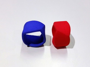 Twisted Ring Size 58 in Blue Strong & Flexible Polished
