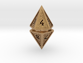 Hedron D10 Spindown Life Counter - HOLLOW DIE in Polished Brass
