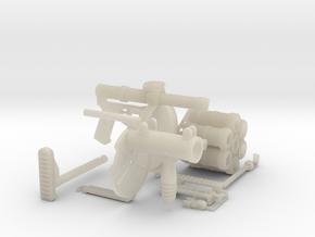 1:6 RG6 Russian Grenade Launcher Acrylic Plastic  in White Acrylic