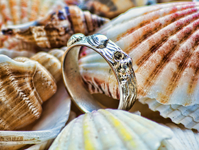Sea Shell Ring 1 - US-Size 8 1/2 (18.53 mm) in Polished Silver
