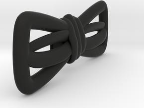 Hand sketched bow-tie in Black Natural Versatile Plastic