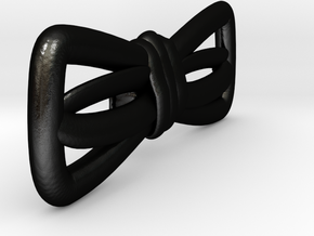Hand sketched bow-tie in Matte Black Steel