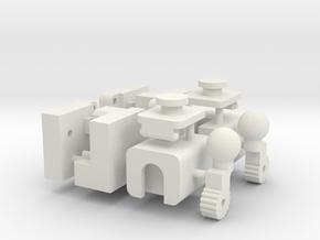 Arms KO TFC Fireflight/Slingshot V1.0 in White Natural Versatile Plastic