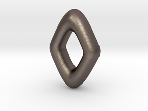 RUNE - Z in Polished Bronzed Silver Steel