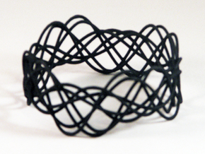 Wave Bangle B21L in Black Strong & Flexible