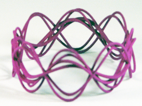 Wave Bangle B25L in Purple Strong & Flexible Polished