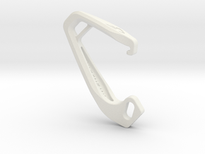 Cobra Carabiner *Small* DH005SW in White Strong & Flexible