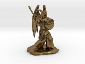 Winged Dragonborn Druid with Scimitar and Shield in Natural Bronze