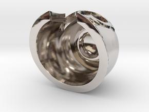Magnet Helmet in Rhodium Plated Brass