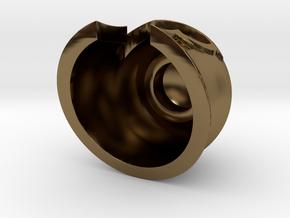 Magnet Helmet in Polished Bronze