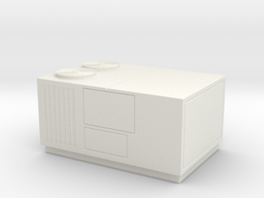 HO Scale Rooftop HVAC Unit in White Natural Versatile Plastic
