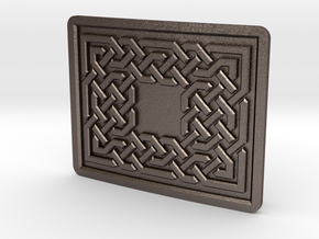 Knot Buckle 001 in Polished Bronzed Silver Steel