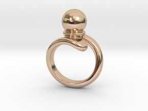Fine Ring 20 - Italian Size 20 in 14k Rose Gold Plated Brass