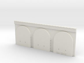 NPV03 Supporting walls in White Natural Versatile Plastic