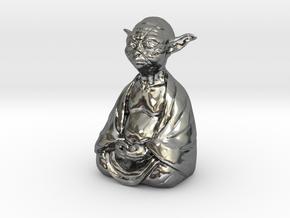 YodaBudda in Fine Detail Polished Silver