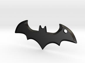 Batman logo keychain in Matte Black Steel