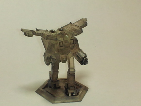 Mecha- Crusher LAM BattleMech (1/285th) in White Strong & Flexible