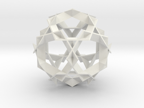 Asterisk Ball - 7.2 cm in White Strong & Flexible