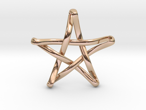 Pentaknot in 14k Rose Gold Plated Brass