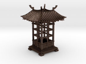 Japanese Pavilion Incense Burner in Matte Bronze Steel