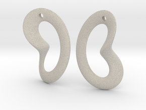 Coeurzoreil-earrings in Natural Sandstone