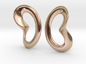 Coeurzoreil-earrings in 14k Rose Gold Plated Brass
