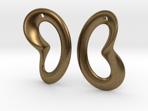 Coeurzoreil-earrings in Natural Bronze