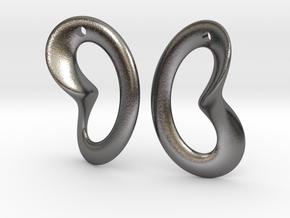 Coeurzoreil-earrings in Polished Nickel Steel