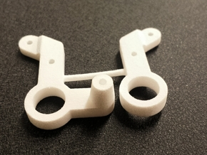 Ten4 Bell Cranks Left Input in White Processed Versatile Plastic